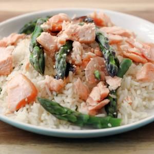 Teriyaki Salmon Salad