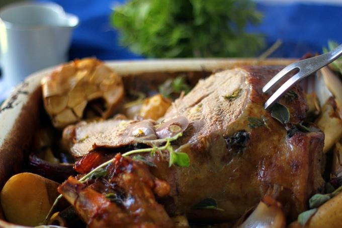 S.low Roasted Greek Lamb