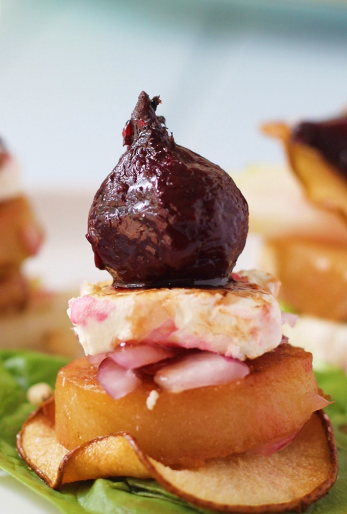 Beetroot Pear & Goat's Cheese Salad
