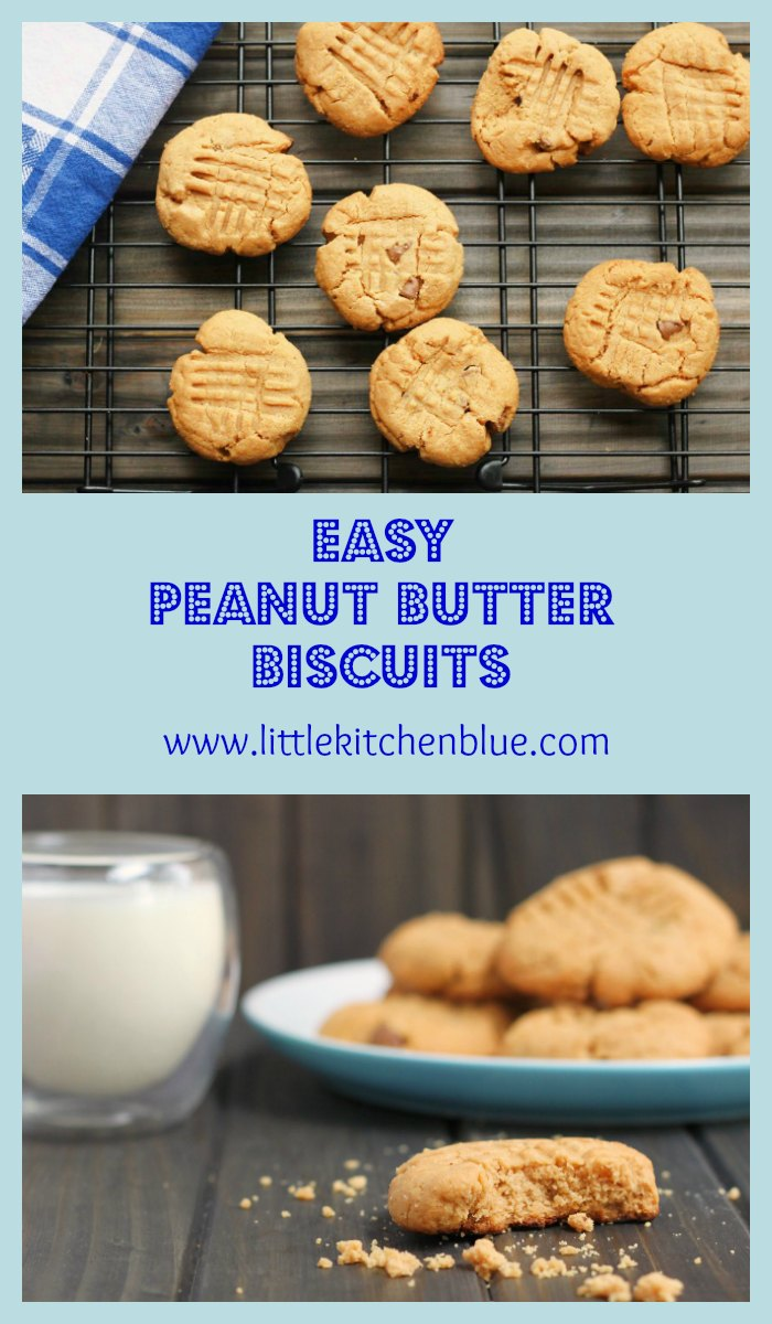 Easy Peanut Butter Biscuits